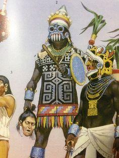 Tlaloc aztec priest an jaguar warrior