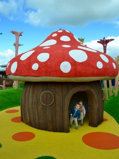 Cheshire Ice Cream Farm Toadstool Play House - we love it her - playgrounds, sand and water play, soft play Sand And Water, Water Play, Cheshire Ice Cream Farm, Wonderful Places, Great Places, Chester Zoo, Soft Play, Family Days Out, Playgrounds