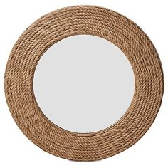 """Quincy 36"""" Rope Wall Mirror, Natural"""