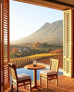 Relais & Chateaux - Perched on the slopes of the magnificent Stellenbosch mountains and surrounded by sweeping views across the estate's vineyards, this prime location provides a sense of escape and privacy. Oh The Places You'll Go, Places To Travel, Silvester Trip, Romantic Honeymoon Destinations, Honeymoon Spots, Cape Town, Dream Vacations, Where To Go, South Africa