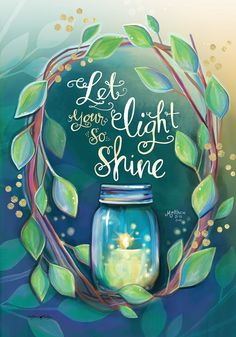 Let Your Light Spring House Flag Inspirational Briarwood Lane x Christian Paintings, Scripture Wall Art, Spring Painting, Let Your Light Shine, Paint And Sip, Light Spring, Flag Decor, Christian Gifts, Paint Party
