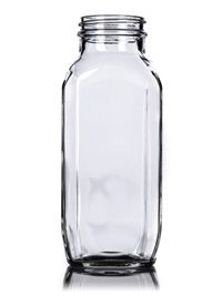 16 oz Clear Glass French Square Bottle 48-400 : French Square Bottles