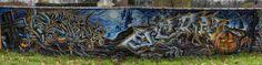 Street art au bord de l'aqueduc à Villabé - Fresque en couleur 20160324013