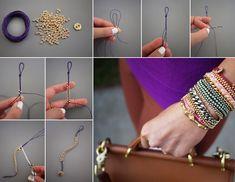 How to Make Beaded Bracelet - DIY & Crafts - Handimania