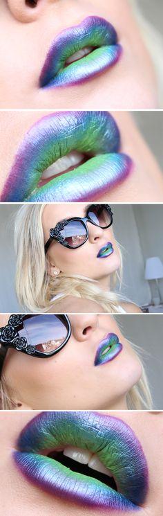 Dagens makeup – Metallic ombre lips | Helen Torsgården – Hiilens sminkblogg