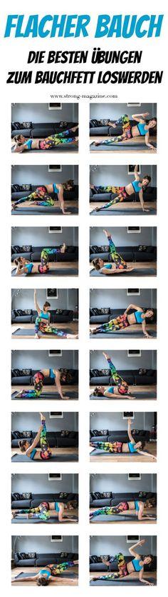 How to get a flat stomach - 16 tips to get rid of belly fat-Wie bekomme ich einen flachen Bauch – 16 Tipps zum Bauchfett loswerden Flat belly – the best exercises for belly fat … - Yoga Fitness, Fitness Workouts, Sport Fitness, At Home Workouts, Fitness Tips, Fitness Motivation, Health Fitness, Fitness Shoes, Fitness Inspiration
