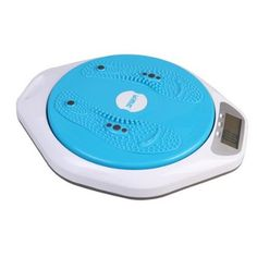 4 in 1 Magnetic Figure Trimmer & Body Weight Scale and Waist Twist Board Calories Counter with Blue Xbright LCD and Stepon Activation (Blue)