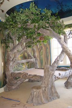now there is a tree bed. a glorious tree bed at that. hang me some ornaments & yes. wowwwwwwww now that's a bed Dream Rooms, Dream Bedroom, Fairytale Bedroom, Fantasy Bedroom, Enchanted Forest Bedroom, Enchanted Tree, Girls Bedroom, Master Bedroom, Tree Bed