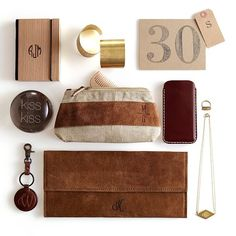 Bookbinder's Wood Paper Notebook Journal, Small with Monogram