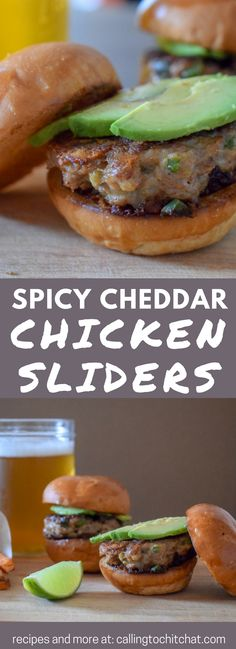 Jalapeño Cheddar Chicken Sliders - perfect for your next potluck! #partyfood #chicken #spicy #cheddar
