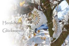 Geburtstagskarte Schlittschuhe von PHOTOGLÜCK auf DaWanda.com