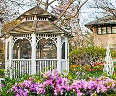 A gazebo offers a luxurious spot for dining, cooking or relaxing! More ways to create a backyard getaway: http://www.bhg.com/home-improvement/porch/outdoor-rooms/create-a-backyard-getaway/?socsrc=bhgpin071513gazebo=7