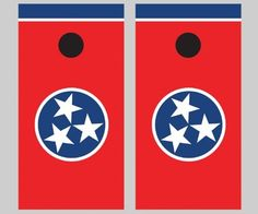 Need to Paint TENNESSEE FLAG on the Cornhole boards