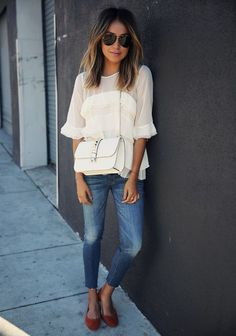 cropped jeans outfit