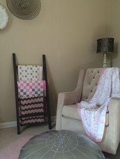 Leaning Quilt / Blanket / Towel / Nursey / Scarf / Ladder