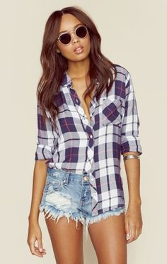 We all need a go-to plaid button down.
