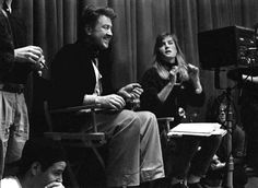 David Lynch directing Twin Peaks in the Red Room
