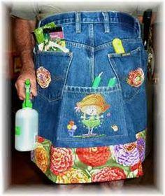 denim recycle gardening apron - Bing Images