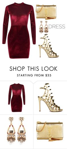 """""""Party On: Long Sleeve Dresses"""" by tania-alves ❤ liked on Polyvore featuring Boohoo, Anton Heunis, Yves Saint Laurent and longsleeve"""