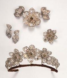 conjunto floral tiara, 1840