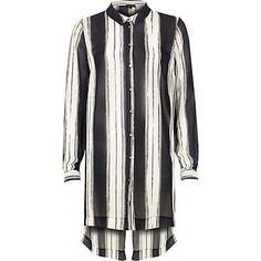 Navy stripe longline shirt £38 #riverisland