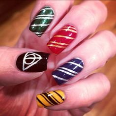 Harry Potter and the Deathly Hallows nails.