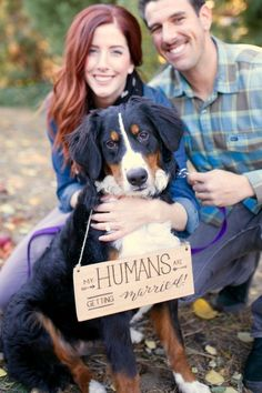 Love this adorable photoshoot proposal with their dog. Perfect shot for an engagement announcement!