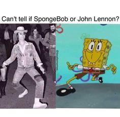 Funny John Lennon or spongebob Band Memes, Dankest Memes, Funny Memes, Jokes, Radiohead, Beatles Meme, Beatles Band, Def Leppard, I Am The Walrus