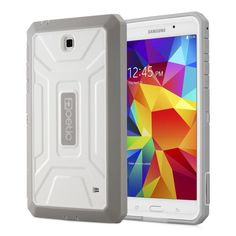 Fast & Free Shipping!!  Samsung Galaxy Tab 4 7.0 Case Heavy Duty with Built-In Screen Protector - White