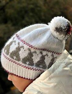 6e7e92908c4 Ravelry  Snow Bunnies pattern by Hanna Maciejewska knit hat stranded bunny  pompom
