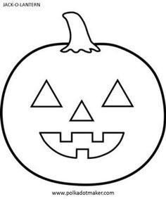 Halloween Jack-O-Lantern Template: You can do loads of fun halloween stuff with this jack-o-lantern or pumkin face template: Color it, paint it, use as a template to make your jack-o-lanterns,