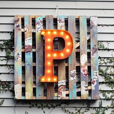 "Rustic 24"" Letter P Marquee Light from The Rusty Marquee"