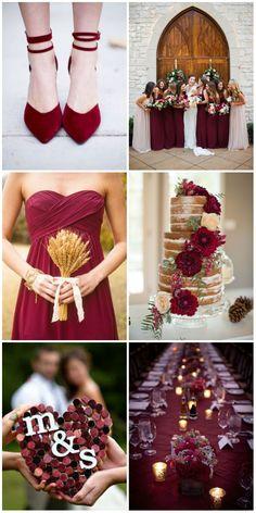 bungundy themed wedding ideas.