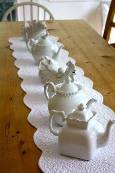 Teapot Collection as Centerpiece
