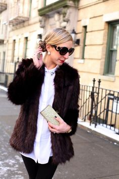 Fur Coat, Red Lips