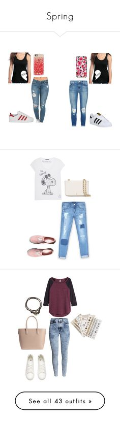 """Spring"" by kikabijelic ❤ liked on Polyvore featuring J Brand, adidas, adidas Originals, Kate Spade, Casetify, Princess Goes Hollywood, Bebe, Vans, Tory Burch and H&M"