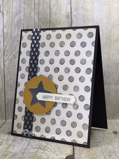 Check out the Nailed It Masculine card class - this is one of the alternate projects!  #stampinbj.com