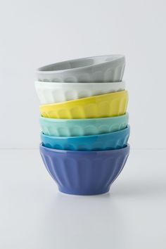 Latte Bowls - Anthropologie.com  Latte Bowls #anthropologie  I've always loved these :) We've now the cornflower and grey bowls and I'm thinking of adding in some of the other colors.