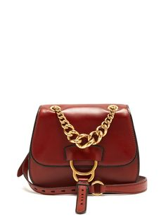 fa0cacc06bfd6 Miu Miu Dahlia Leather Mahogany-Brown Crossbody Bag - Off