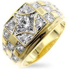 Isady - Youri - Men's Ring - 14ct Yellow Gold Plated - Cubic Zirconia - P 1/2 Isady http://www.amazon.co.uk/dp/B001AUISJ4/ref=cm_sw_r_pi_dp_JJEwvb18PZC0X