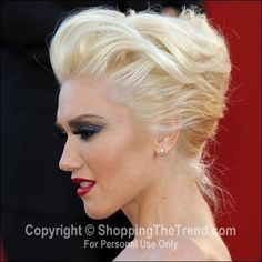 Gwen Stefani hairstyle @ 'This Must Be The Place' Premiere Canne | Elegant Updo Style