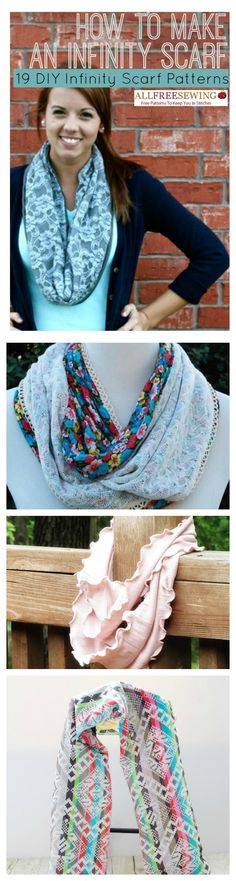 33 Ways to Learn How to Sew a Scarf + Infinity Scarf Patterns ...