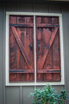 Faux window shutters
