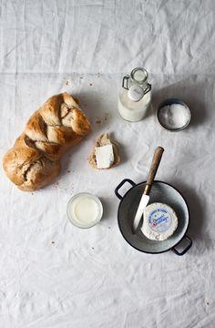 Braided Bread. bread. butter. milk. good morning. breakfast