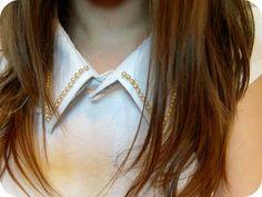 pearl beaded collar