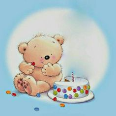 #osonellas #cute #love #happy #bear #happybirthday #cake #party #happyday #celebration #