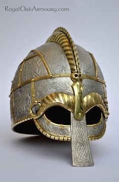 Vendel Helm with Pressblech: 3/4 View by *royaloakarmoury on deviantART