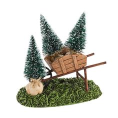 Department 56 Snow Village My Garden Wheelbarrow Accessory #4030918 | ChristmasCentral