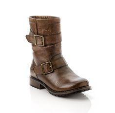 Perfect Brown Leather Moto Boot
