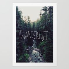 Wanderlust by Leah Flores motivationmonday print inspirational black white poster motivational quote inspiring gratitude word art bedroom beauty happiness success motivate inspire